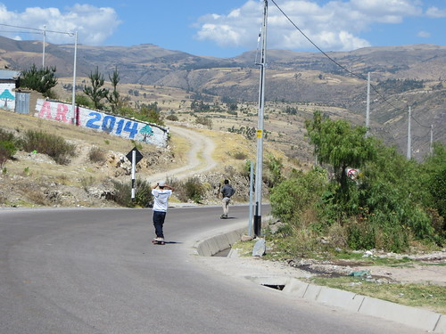 gnarly skaters leaving Ayacucho