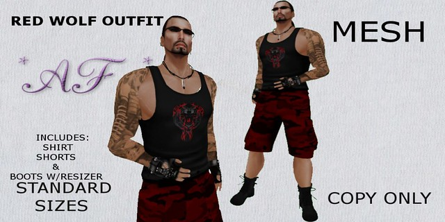 _AF_ RED WOLF OUTFIT