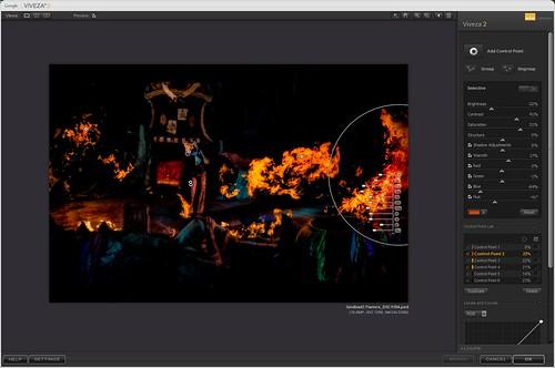 Screen Capture Image of Nik Viveza 2 settings