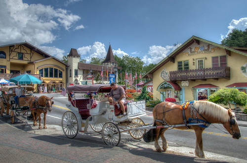 horse usa mountains tourism architecture buildings georgia town nikon tour village carriage ride unitedstates south oktoberfest architectural southern helen alpine adobe german shops blueridgemountains hdr northgeorgia bavarian lightroom appalachianmountains horsedrawncarriage appalachians photomatix whitecounty d7000 stgrundy