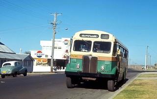 John J Hills of Wollongong, AEC Regal III 6340 (ex MTT Adelaide No 175) in Addison Street near Mary Street, Shellharbour, N.S.W. Australia.
