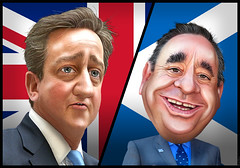 David Cameron and Alexander Salmond - Caricatures