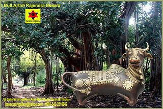 Bull artist Rajendra Besara