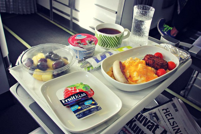 Finnair Business class Breakfast