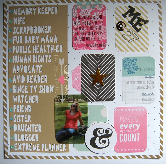 Just Two Midwest Girls Scrap Challenge: All About Me, September 2014
