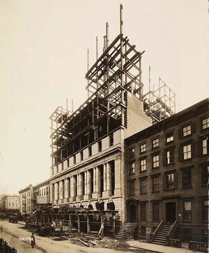 March 1910 Elks Lodge #1/ Hotel Diplomat under construction, NYC, NY