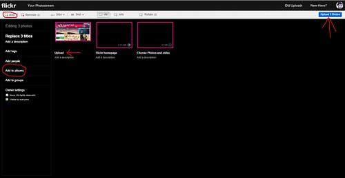 Upload screen