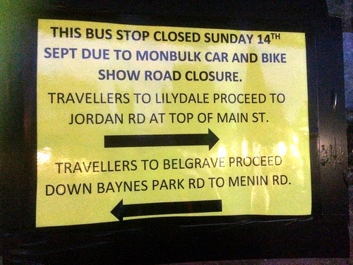 Bus stop closure