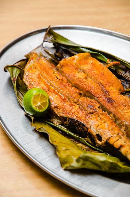 Hing Ket Grill House's yummy grilled stingray fish (ikan pari)