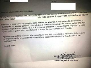 lettera ricevuta pediatra