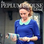 how to refashion a crop top into a peplum blouse 7