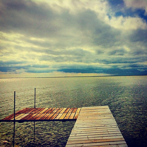 #lake #pier #sky #storm #clouds #lynnfriedman