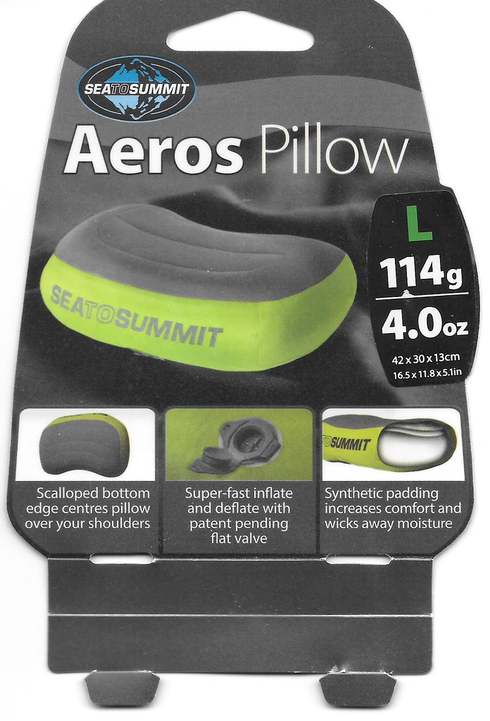 Sea To Summit Aeros Pillow Large Backpacking With Sqwib
