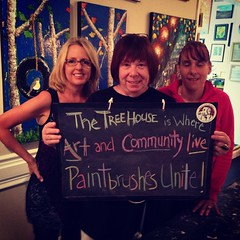 #thetreehouse is where - Art and Community live - Paintbrushes Unite! #haikuDBF