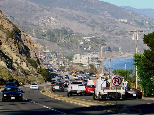 PCH gridlock in Malibu