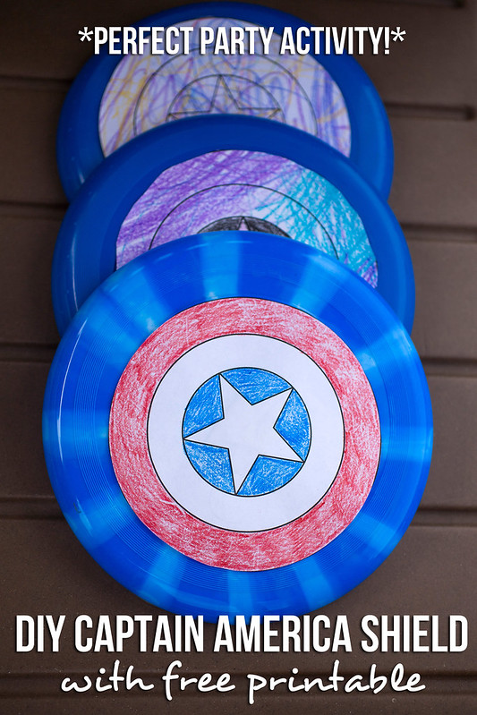 DIY Captain America Shield Free Printable