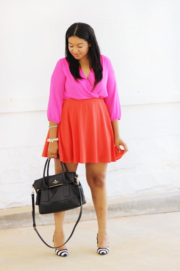 Pink & Red Outfit