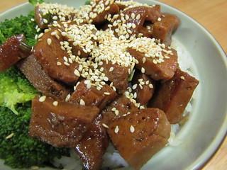 Seitan Donburi with Unagi Sauce