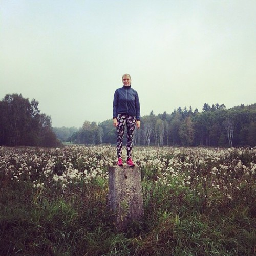 Vaknade sju och stack ut i skogen! Ska nu äta frukost och sen sticka ut i skogen. #skogen