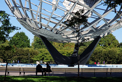 Flushing Meadow Park , Queens New York , Unisphere Fountains ...