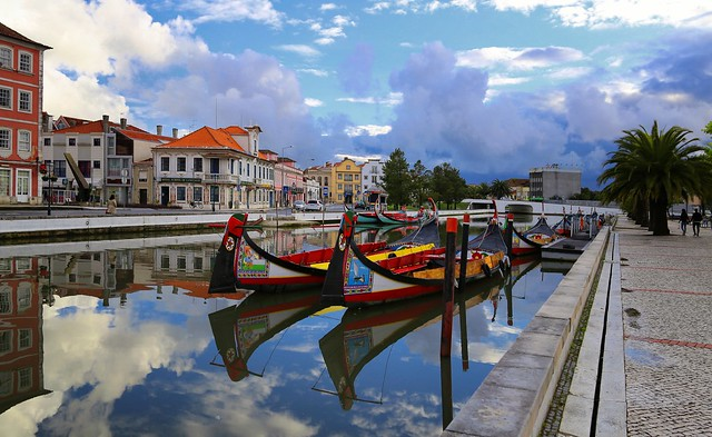 The sky cleared up after a day of rain in Aveiro