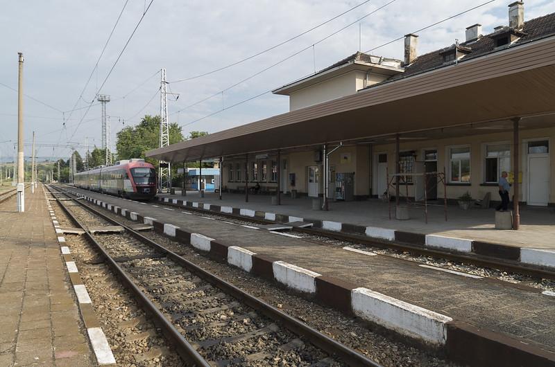 Electric train Siemens Desiro at the Blagoevgrad railway station, 23.07.2015.