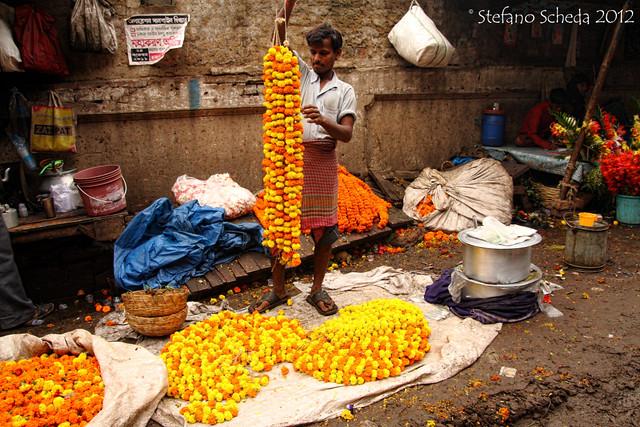 Mullik Ghat Flower Market - Kolkata, India