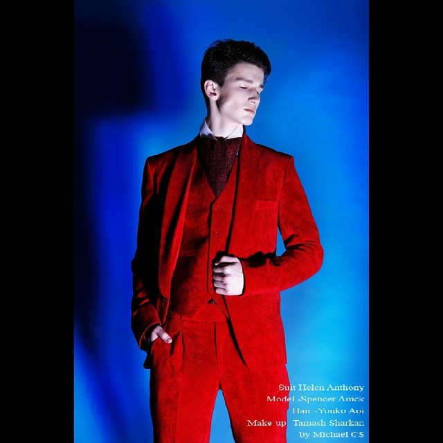 Suit by Hele Anthony #style #menwear #suit #red #photoshoot #fashion #menwithstyle #retouching #londonphotography #lookbook