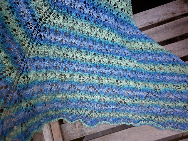 Leaf Evolution shawl