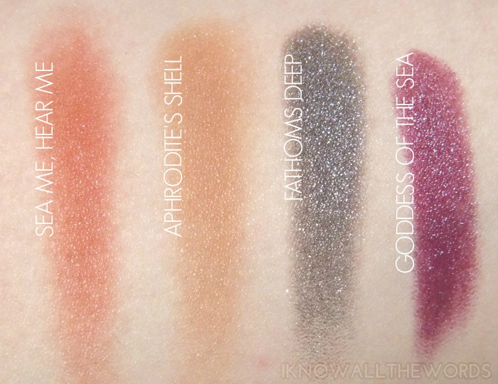 mac alluring aquatic collection swatches