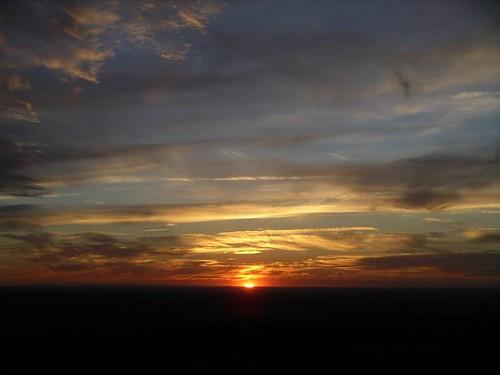 cielo anochecer