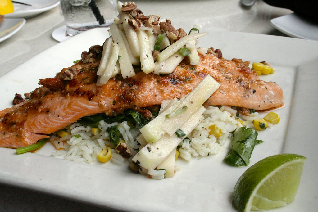 Grilled ruby trout