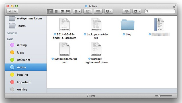 Finder sidebar tags