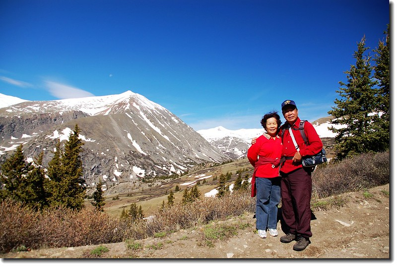 Background is 14ers Mount Lincoln