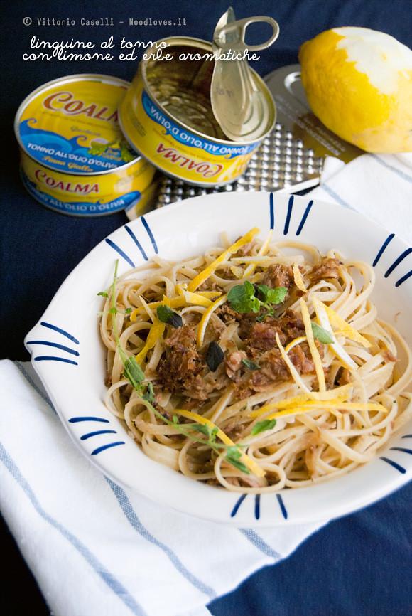 Linguine al tonno con limone ed erbe aromatiche