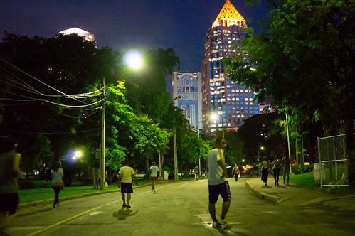 Lumpini Park sunset 9