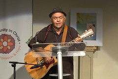 Nelson Varcoe sings at the Uniting Church Synod March 2014.