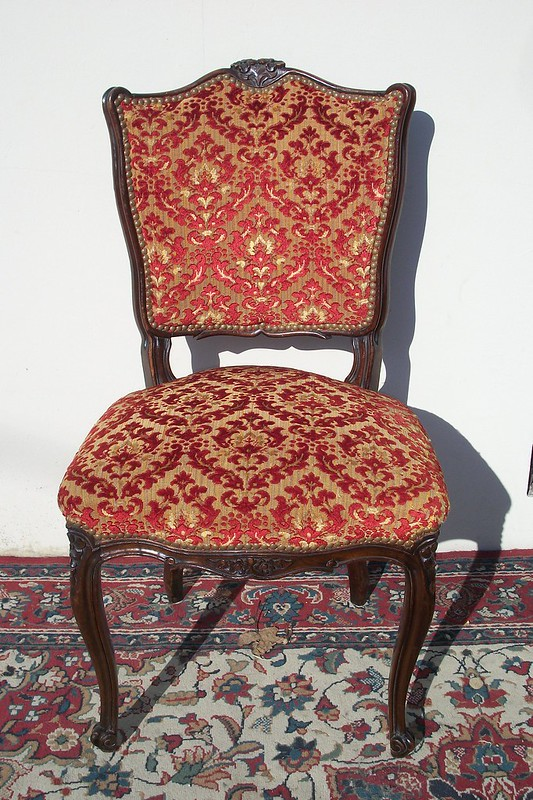 Antiguas sillas estilo luis xv frances sala living comedor - Silla estilo luis xv ...