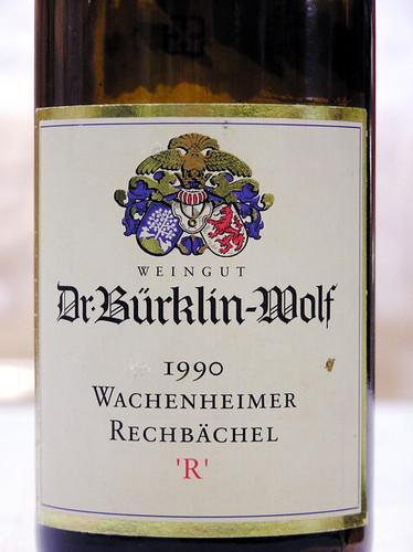 Weingut Dr. Burklin-Wolf 1990 Wachenheimer Rechsachel Riesling Auslese Pfalz