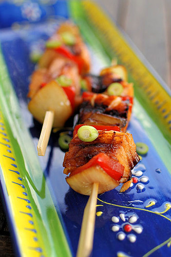 Glazed Salmon Kebab IMG_1511 R