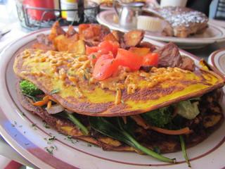 Veggie Omlette at Wayward Vegan Cafe