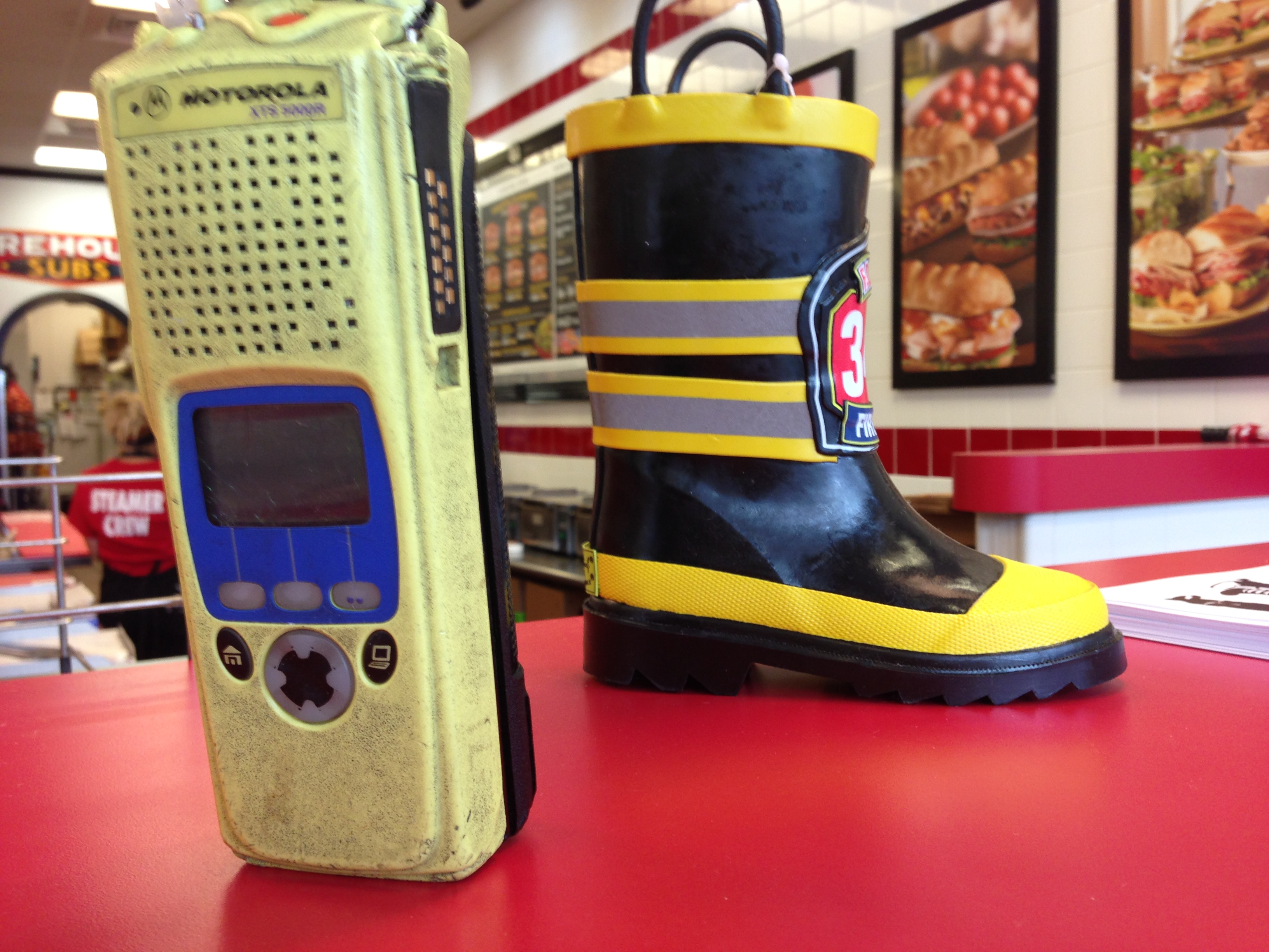 Walkie Talkie and Fireman Boot