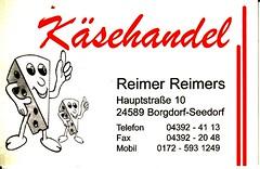 Visitenkarte Reimer Reimers