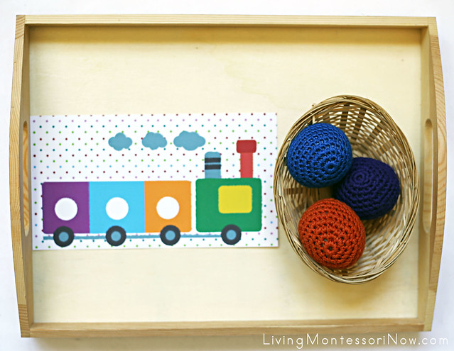 Montessori-Inspired Train Car Color Matching