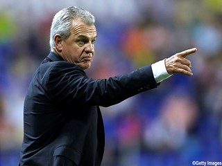 VALENCIA, SPAIN - OCTOBER 26:  Head coach Javier Aguirre of Espanyol reacts during the La Liga match between Levante UD and RCD Espanyol at Estadio Ciutat de Valencia on October 26, 2013 in Valencia, Spain.  (Photo by Manuel Queimadelos Alonso/Getty Image