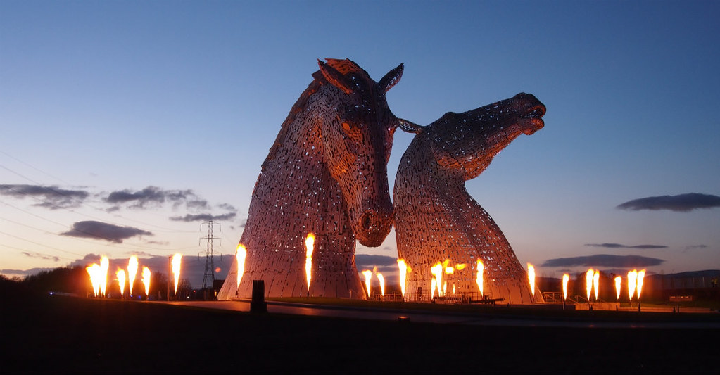 24/04/14: HOME. The Kelpies, Fire.