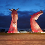 The Kelpies at Night
