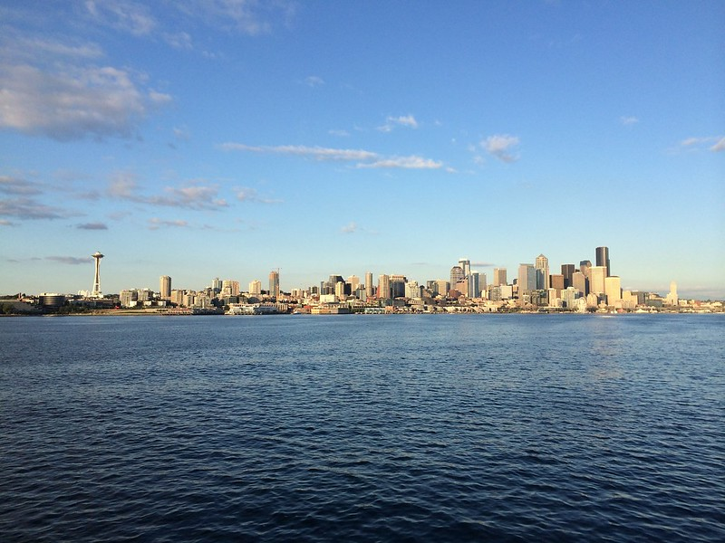 Downtown Seattle as seen from the ferry