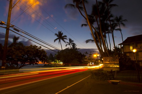 sunset night hawaii palmtrees bigisland kona