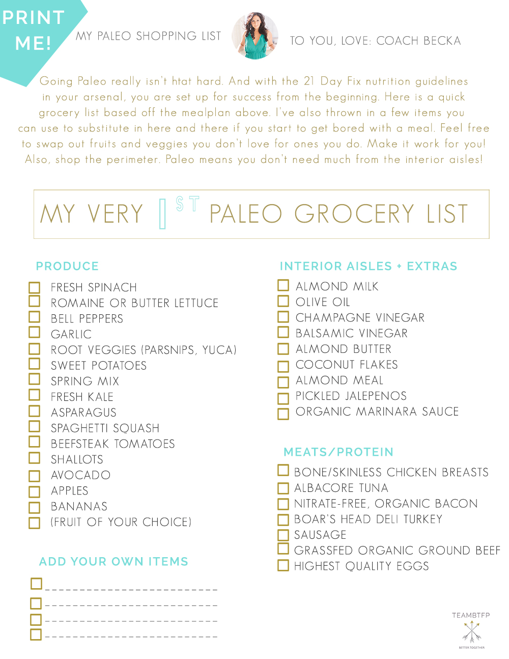 How to go paleo with the 21 day fix mealplan and shopping list teambtfp21dayfixpaleogrocerylist malvernweather Choice Image